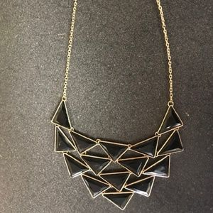 Jewelry - Vintage black and gold geometric necklance